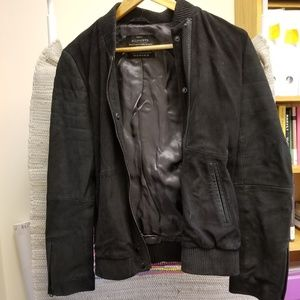 All Saints Suede Leather Jacket